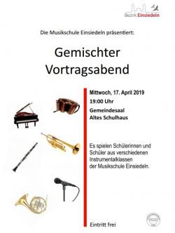 Flyer Gemischter Vortragsabend April 2019